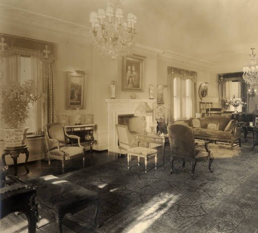 Living Room At Glenallen 1915 1945