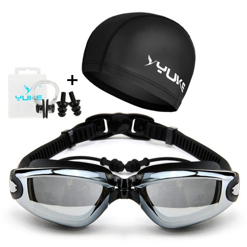 d6dbc0a1c2 YUKE Swimming Goggles Anti-Fog UV men women Waterproof silicone swimming  glasses for adult Eyewear Nose Clip Ear Plug Earplug Price  21.84   FREE  Shipping   ...