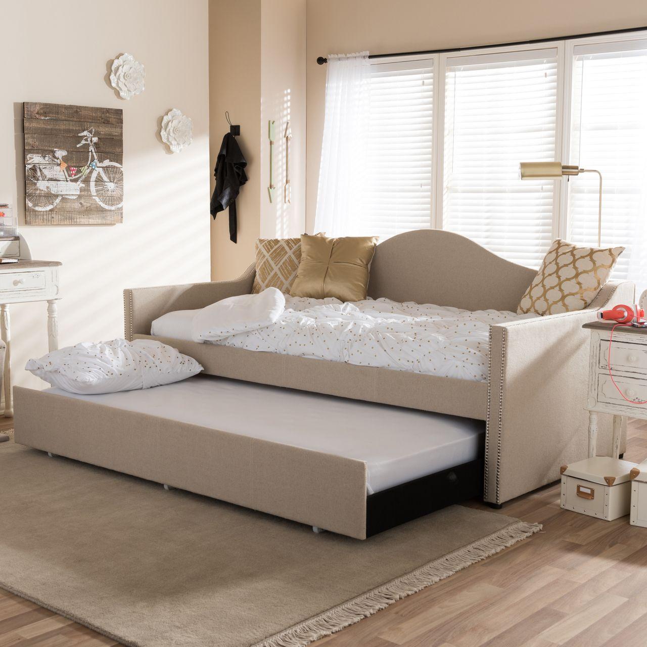 baxton studio prime modern beige linen fabric upholstered arched
