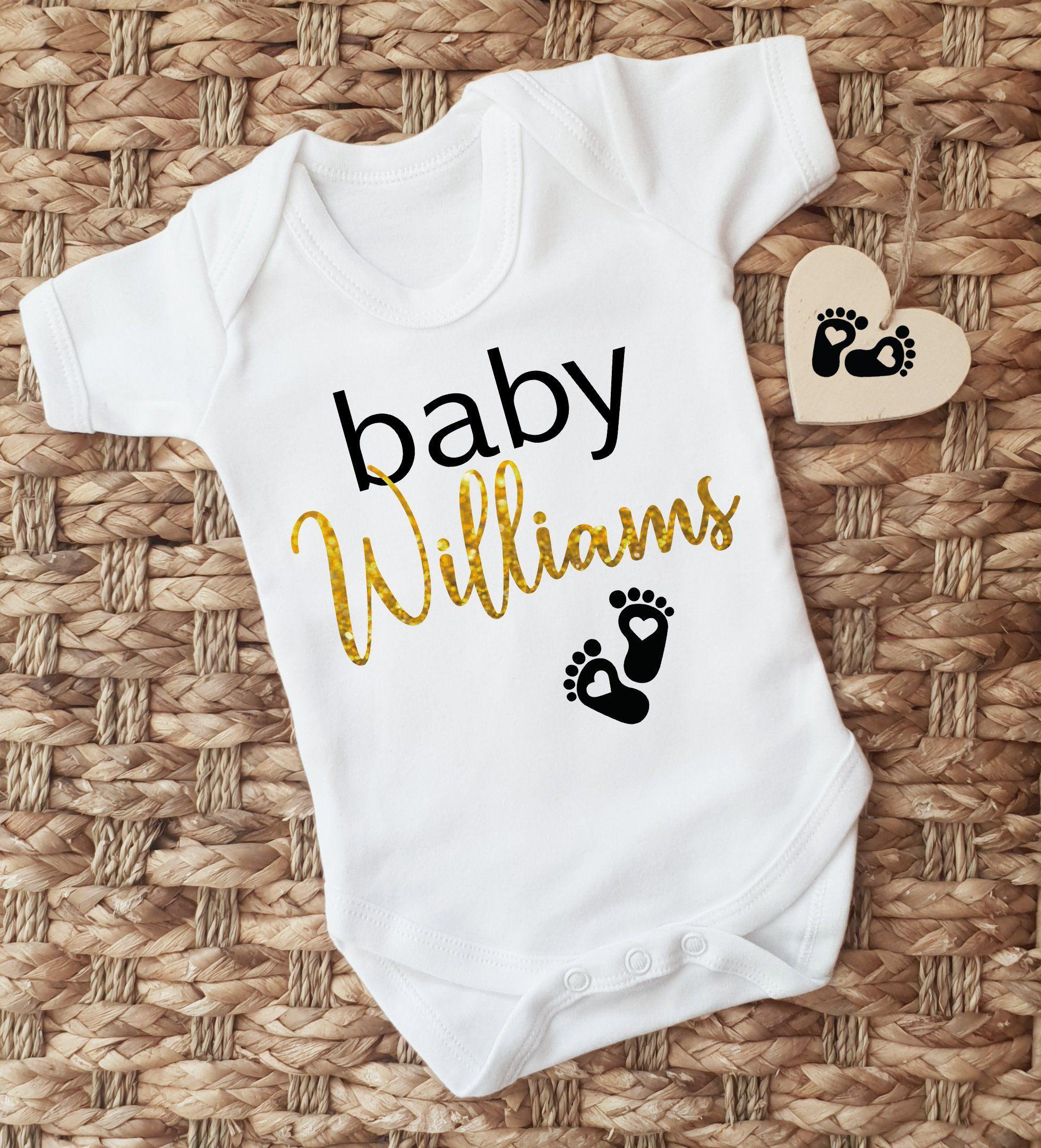 c8b82ae13 Personalised baby name short sleeve baby grow