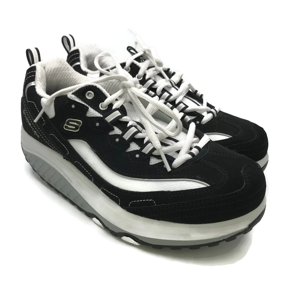 03e5b88c7f37 Skechers Women s Shape Ups-Strength Fitness Walking Shoe 11809 BKW US Size  8.5  Skechers  Walking