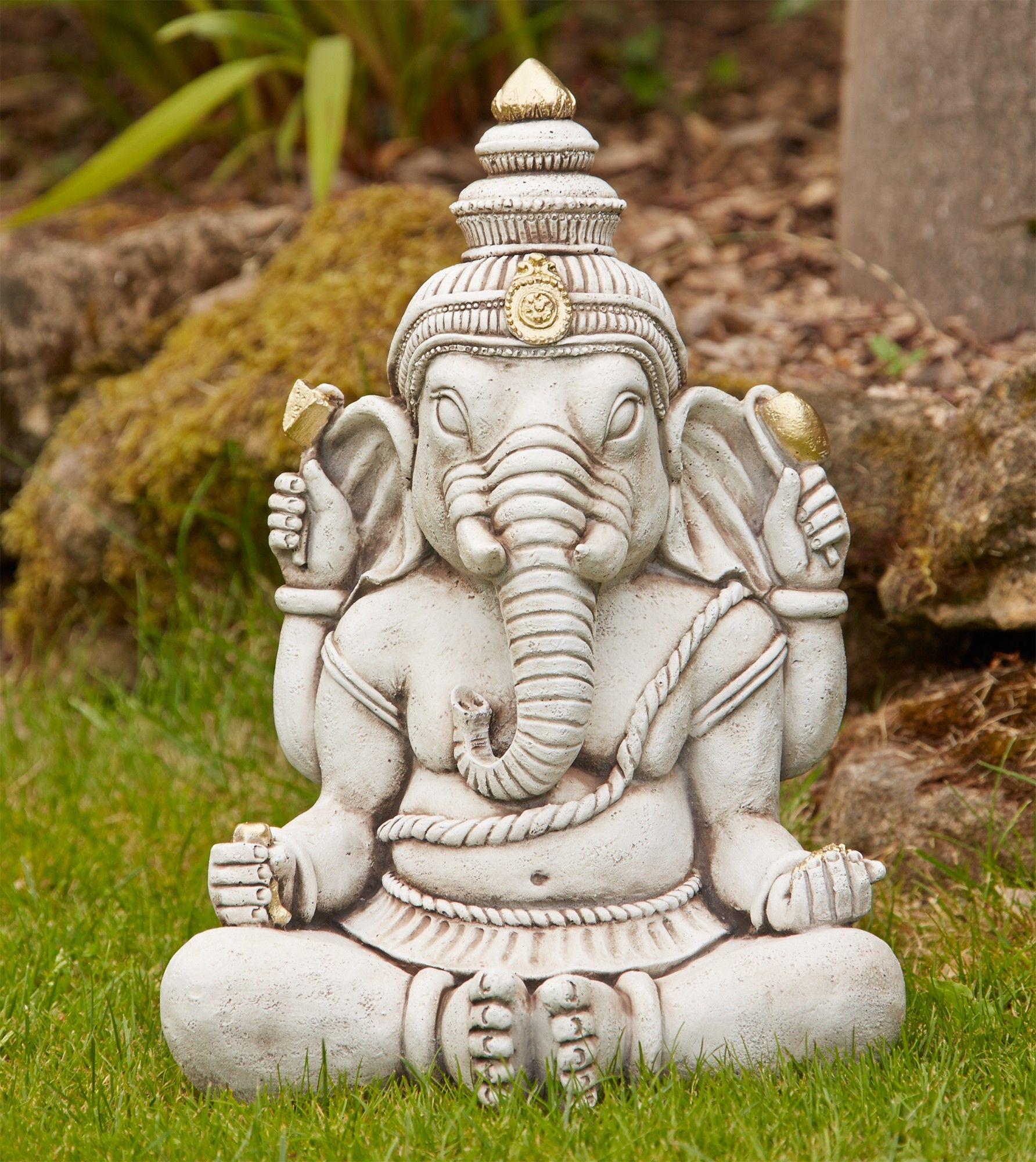 Ganesh Stone Buddha Statue Large Garden Ornament. Buy Now At Http://www