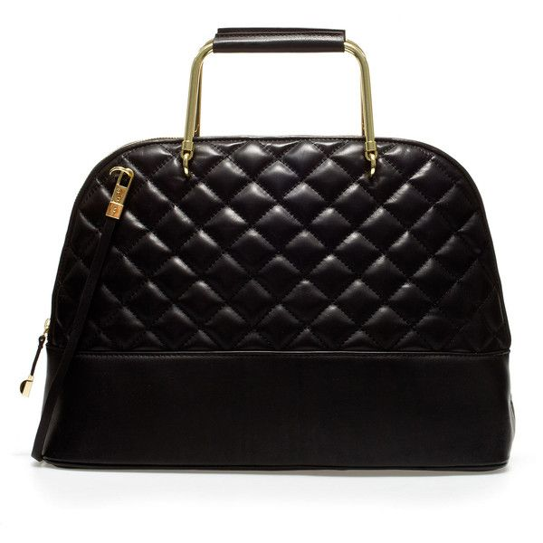 Zara Quilted Leather Citybag With Metal Handles (225 CAD) ❤ liked ... : zara quilted city bag - Adamdwight.com