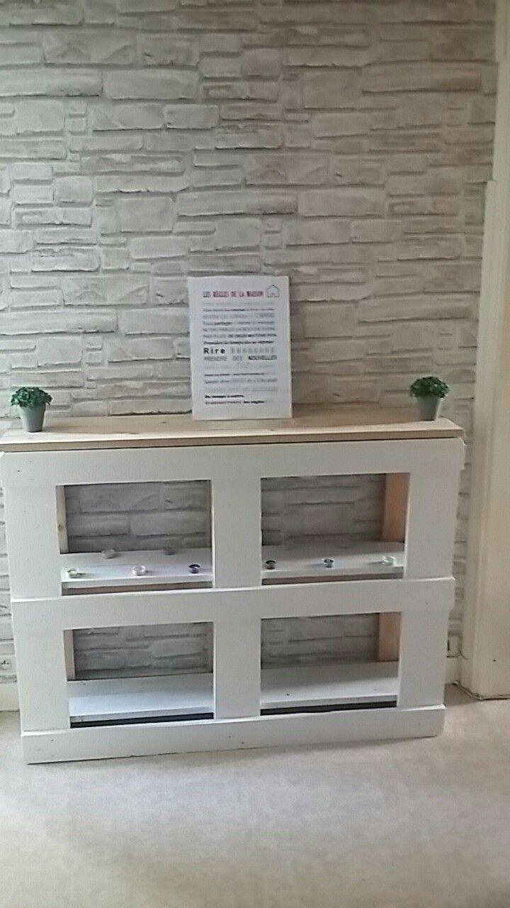 petit meuble d 39 entr e palettes meuble palette. Black Bedroom Furniture Sets. Home Design Ideas