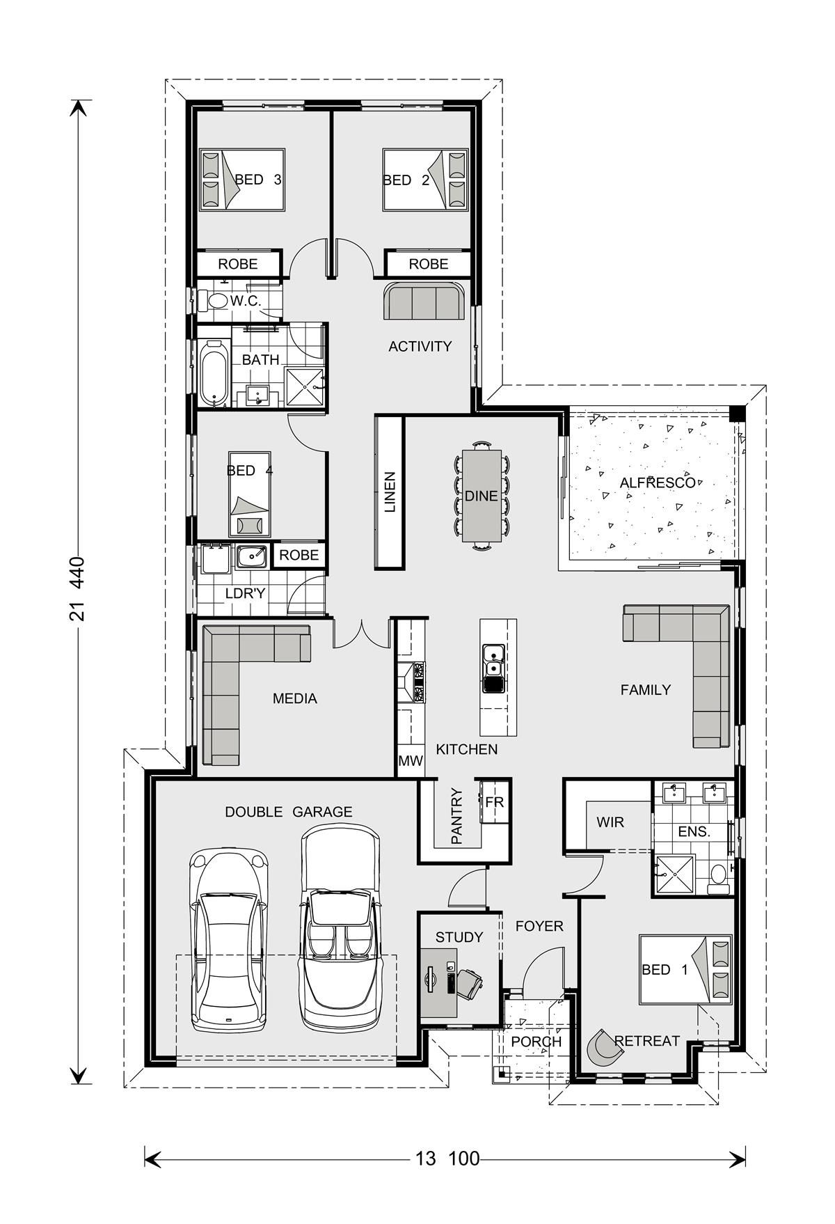 Coolum 225 Our Designs Orange Builder Gj Gardner Homes Orange House Plans Bedroom House Plans House Floor Plans