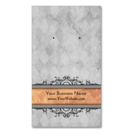 Custom Earring Cards Gray Vintage Business Cards | Business cards ...