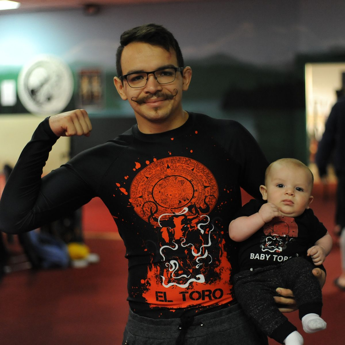 You mess with the Bull You get the horns! Baby and Daddy flexin' in their Custom Gear!  #killertende...