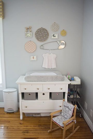 Baby Nursery Changing Table Refinished And Painted Old Dresser Added New S From