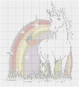 Counted Cross Stitch Pattern Embroidery Chart PDF Unicorn