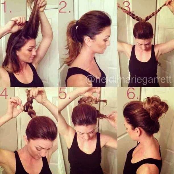 Simple High Bun Hairstyle Tutorial Toronto Calgary Edmonton - High bun hairstyle tutorial