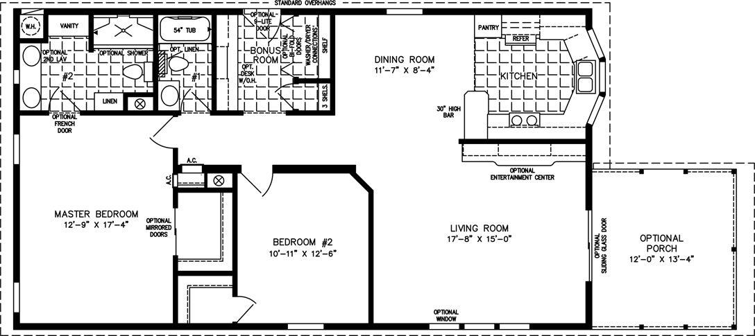The IMP3486B Manufactured Home Floor Plan Jacobsen