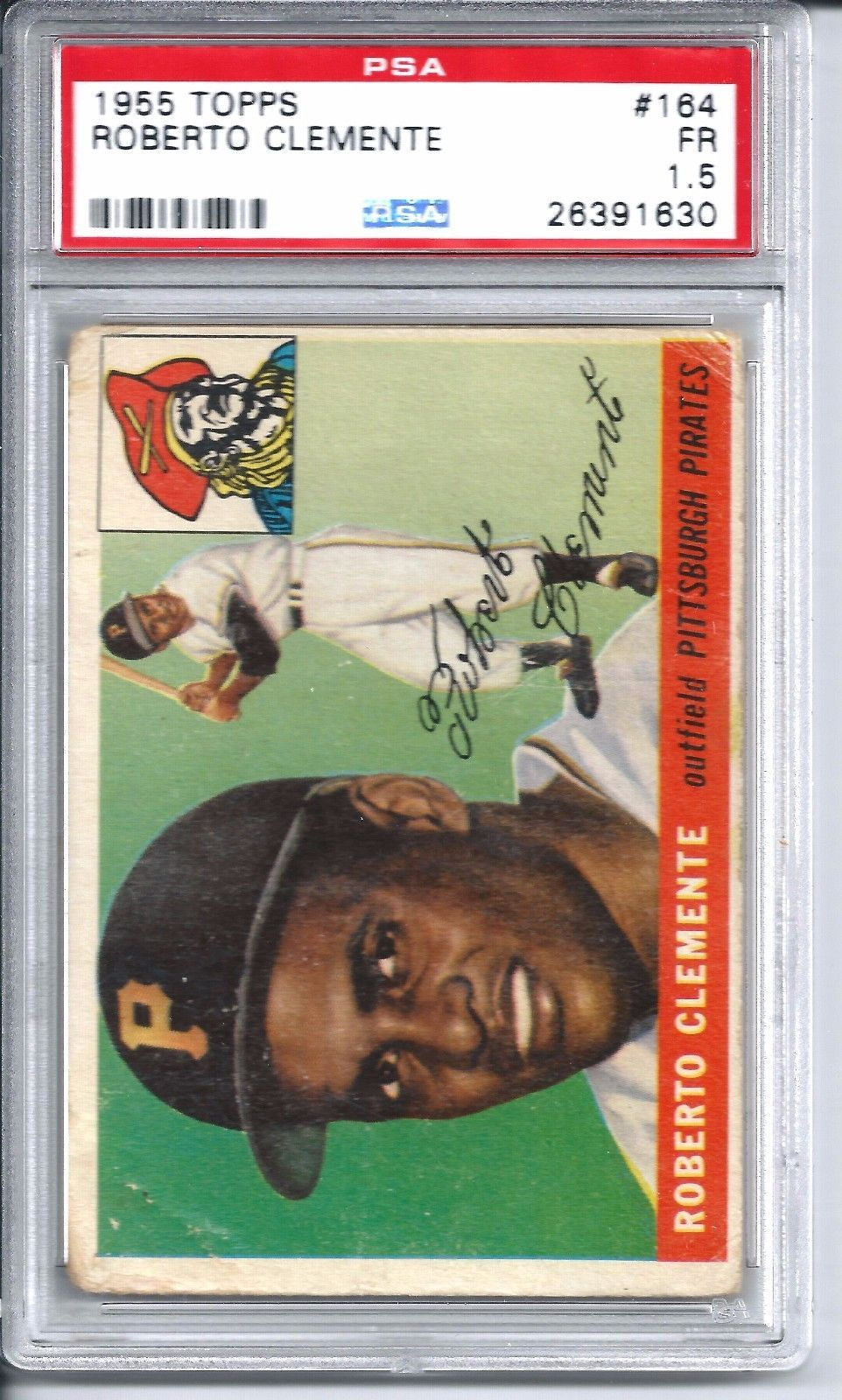 1955 Topps Baseball 164 Roberto Clemente Rookie Card Psa