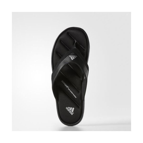 cba4a3c80cf62 adidas Zeitfrei Fitfoam Flip-Flops Black ( 35) ❤ liked on Polyvore  featuring men s fashion