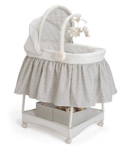 Abnehmbarer Babykorb Babywiege//Stubenwagen mit Schaukelfunktion Hellblau