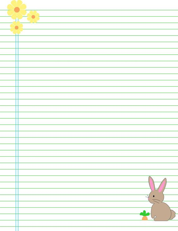 photo relating to Printable Binder Paper known as Printable binder filler paper bunny Fast Down load A