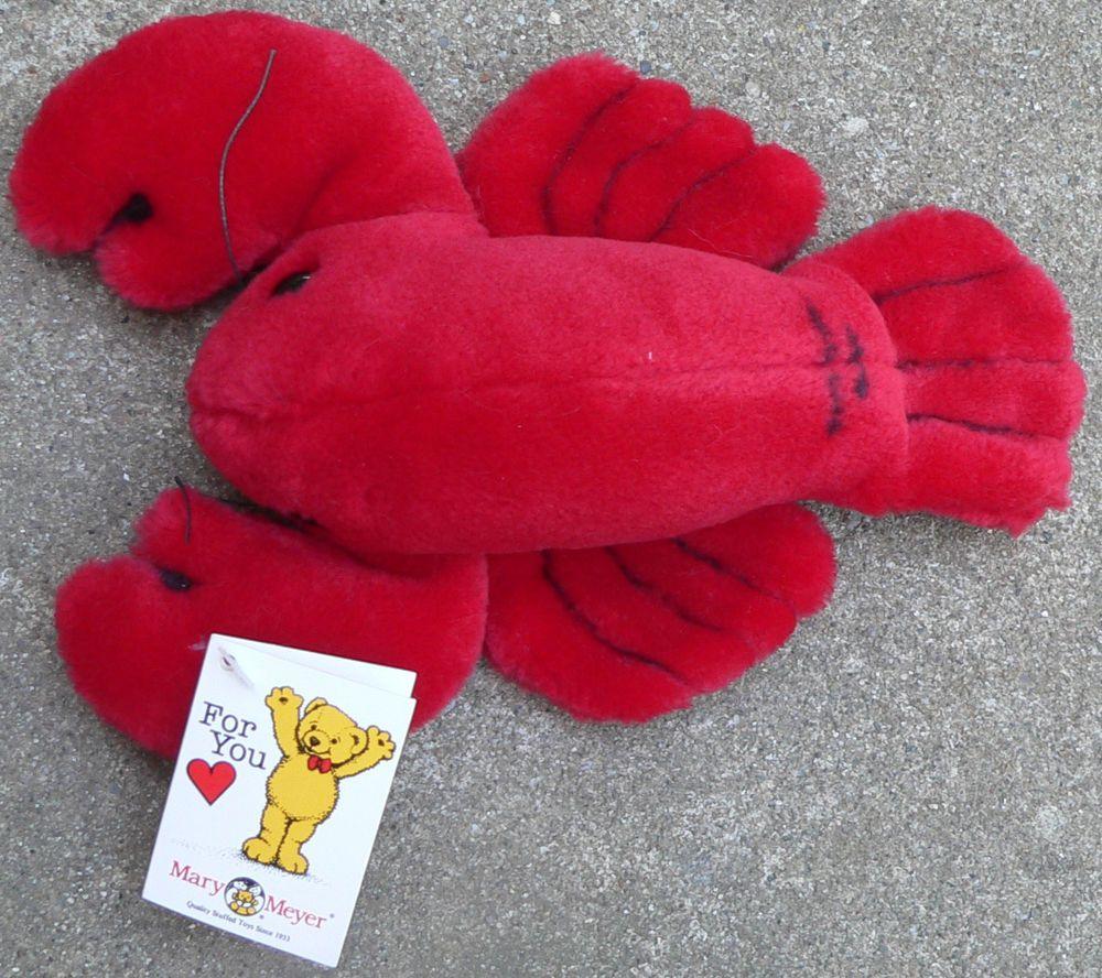 "Mary Meyer Lobbie Lobster plush Medium 10"" tag red stuffed ocean animal toy gift #MaryMeyerCorporation"