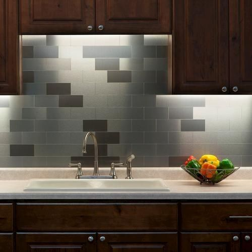 Stainless Steel Tiles Peel And Stick For Kitchen