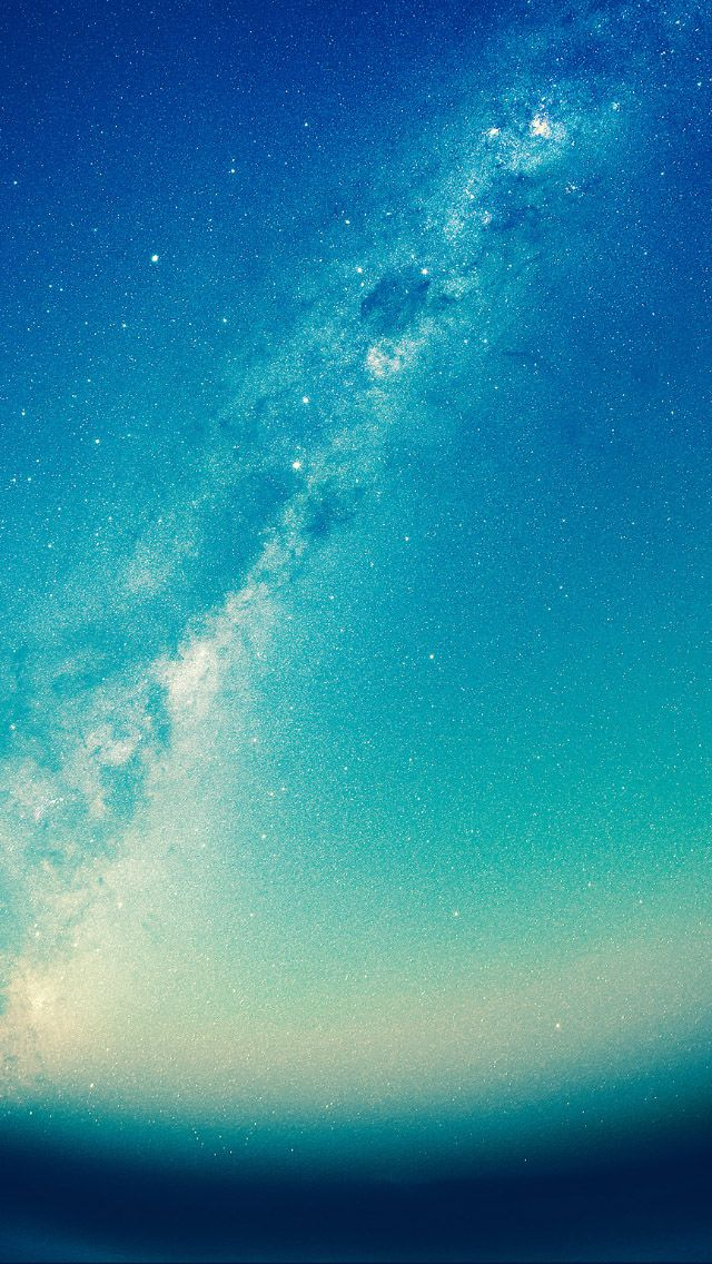 Beautiful Milky Way Green Blue Tint Iphone 5 Wallpaper Space