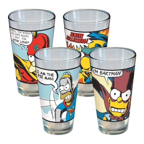 Simpsons Superhero Pint Glass 4 Pack. Awesome KitchenKitchen StuffHomer ...