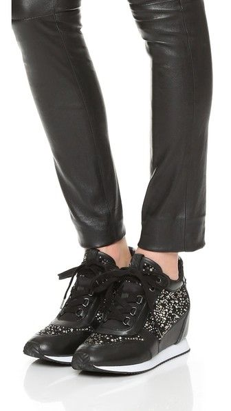 Ash Rhinestone Wedge Sneakers