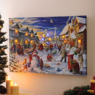 Christmas Led Canvas.Product Details Christmas Eve Led Canvas Art Print My
