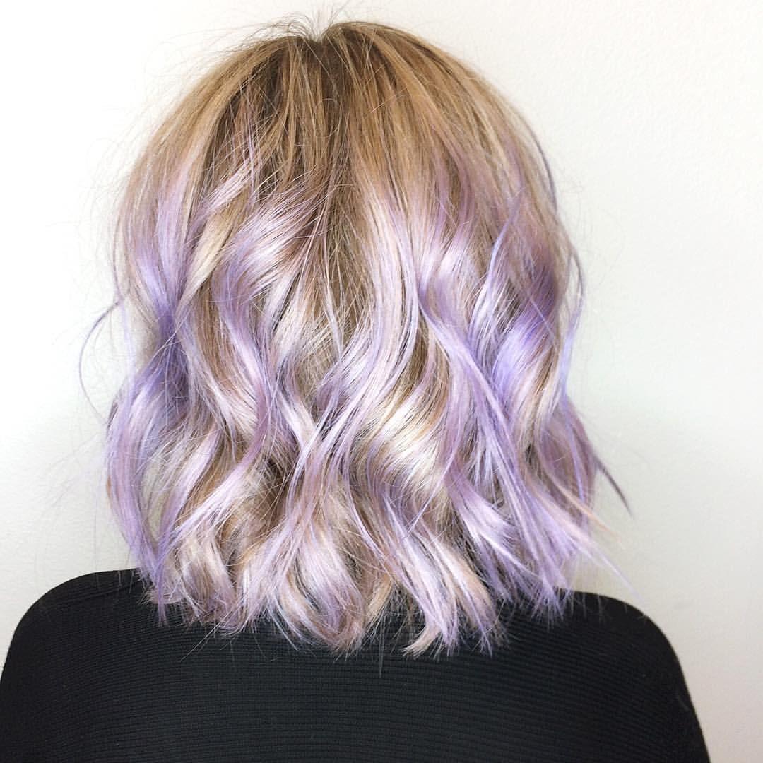 Pin By Bree Skalski On Hair Purple Underneath Hair Purple Hair Highlights Hair Color Purple