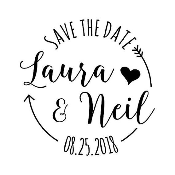 CUSTOM SAVE The DATE Stamp Custom Rubber By DoodleStamp