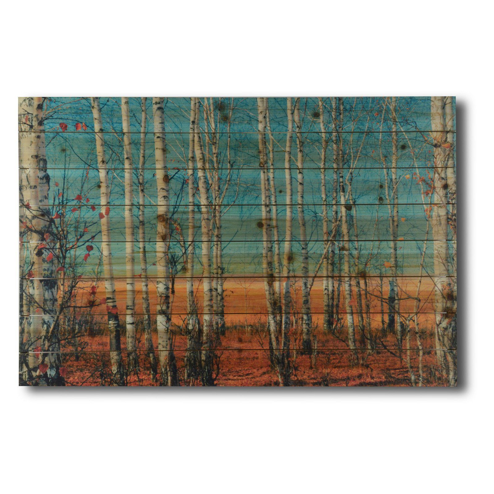 Gallery 57 Birch Trees on Planked Wood - KC2000941A