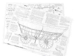Conestoga wagon plans from for Covered wagon plans