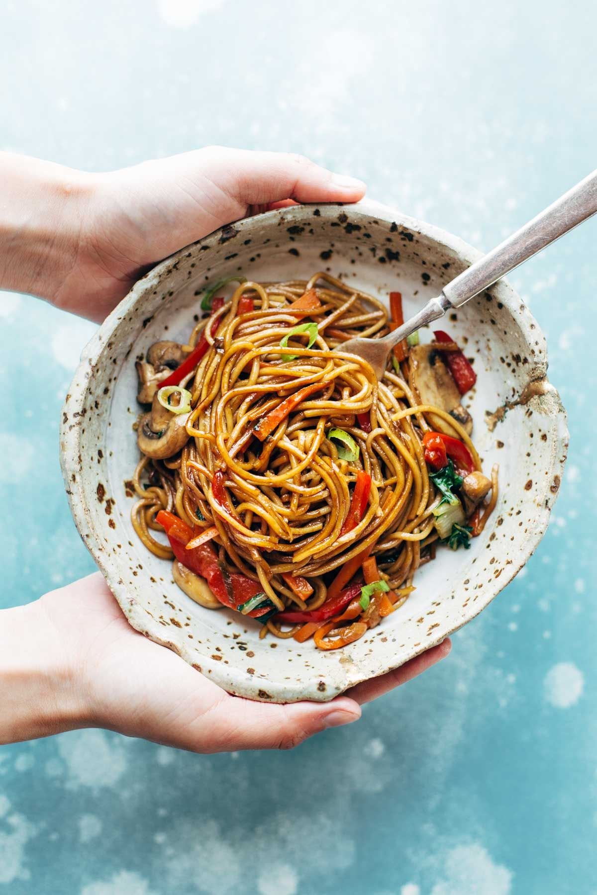 how to make lo mein with spaghetti noodles