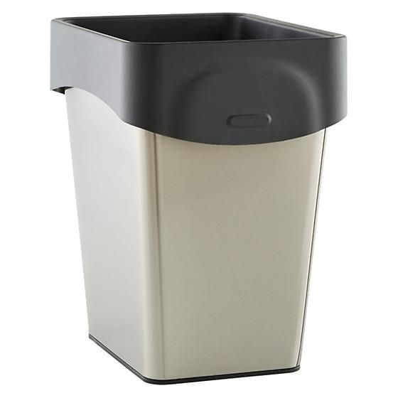Grocery Bag Trash Can Stainless 8 1 2 X 10 5 12 H