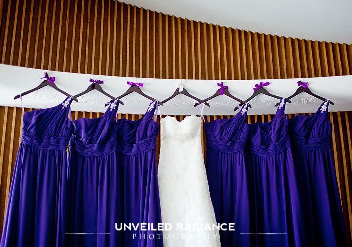 Bridesmaid dresses and purple clothes