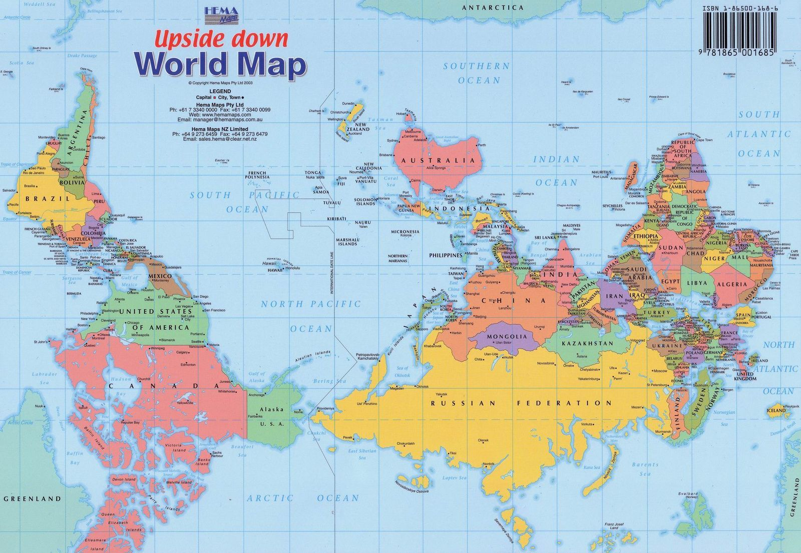 Upsidedown Map Showing What The World Could Have Looked Like If - Location world map china us