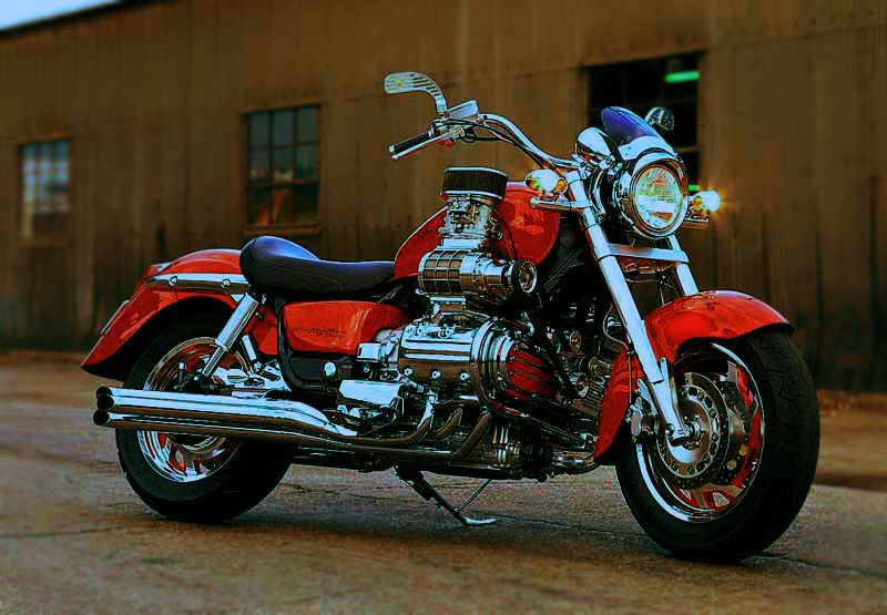 Super charged Honda Valkyrie. 1,520 cubic centimeters