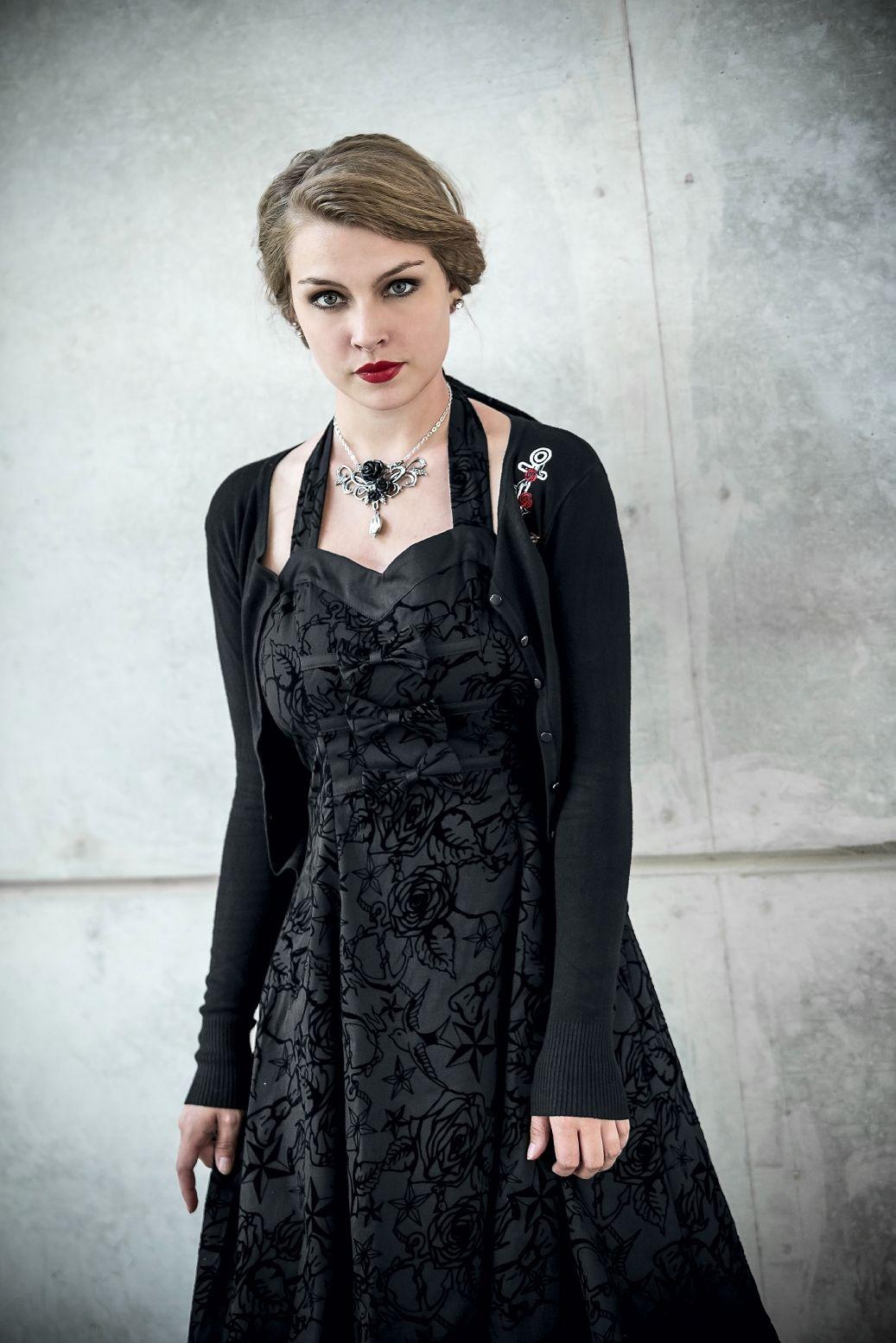 longue tattoo dress   vintage abendkleider, modestil