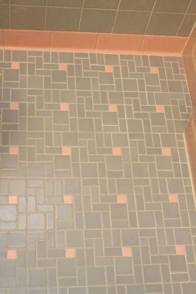 1950s Knotty Pine Kitchens | Pink U0026 Gray Tile Floor For 1950s Bathroom | My  Mid Part 83