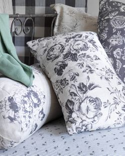 Cabbages & Roses floral cushions