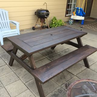 Add An Umbrella To Your Picnic Table Picnic Table Picnic Table