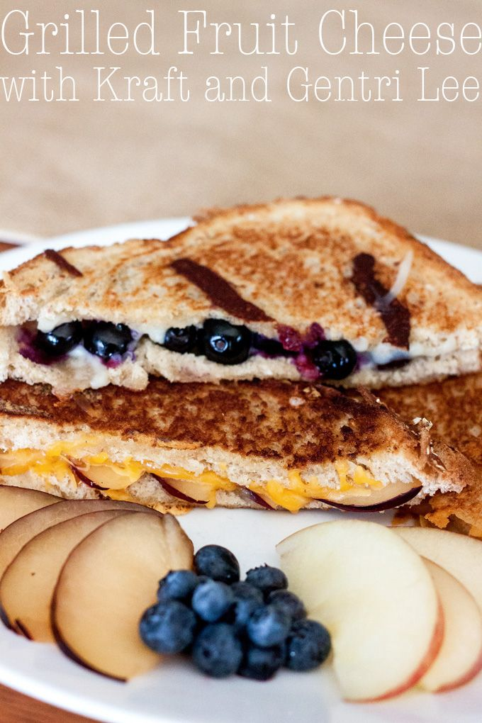 Grilled Fruit Cheese Sandwiches  Taking advice from my nephew and putting fruit on my grilled cheese sandwiches! Turns out, he's a food genius. http://www.gentrileeblog.com/2015/09/grilled-fruit-cheese-sandwiches.html  #NaturallyCheesy [ad]