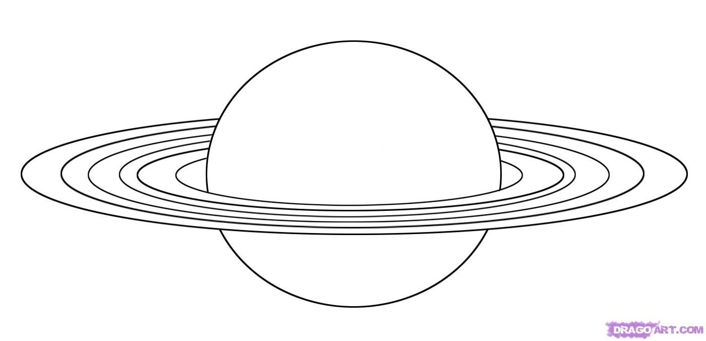 How To Draw Saturn By Dawn Planet Drawing Planet Coloring Pages