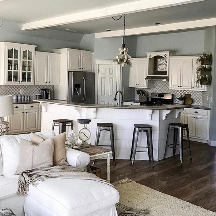 100+ Stunning Farmhouse Kitchen Design Ideas   kitchen all ideas in on