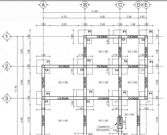 plano estructural de un edificio de 3 pisos - Búsqueda de Google en 2020 |  Planos de cimentacion, Dibujo de planos, Planos