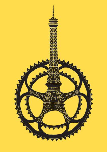 Le Tour de France Canvas Print by Dave The Designer.