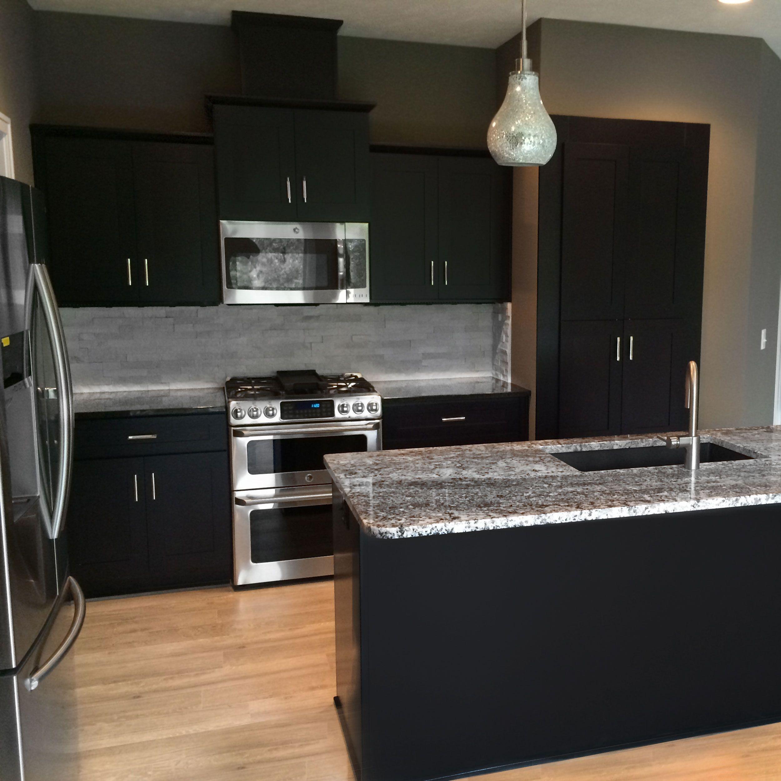 Espresso Colored Kitchen Cabinets: 12x13 Island Kitchen Cabinets Bundle In Shaker Espresso