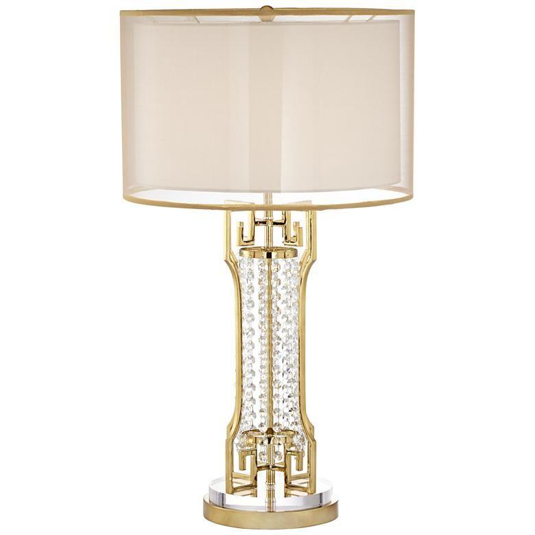 Possini Euro Lori Gold Glass Beaded Table Lamp 1f831 Lamps Plus Table Lamp Lamp Traditional Table Lamps