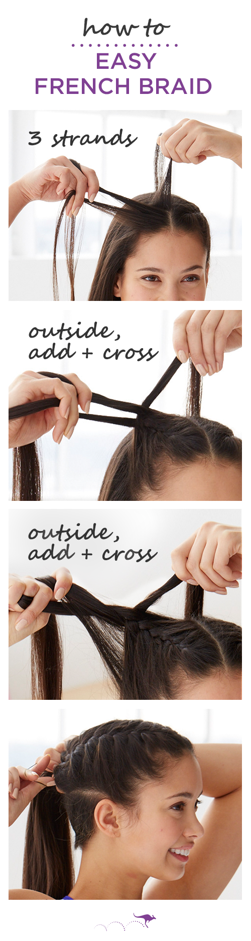 How To: Easy French Braid  Keep Hair Out Of Your Face At The Gym