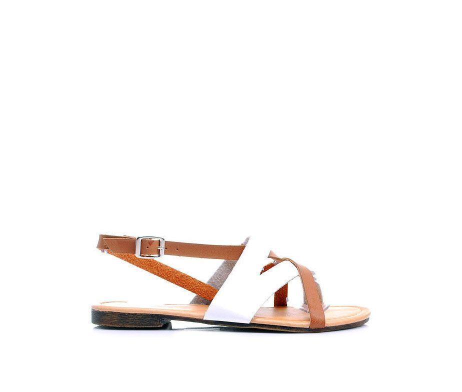 61f1743a08ec8 Białe sandały płaskie rzymianki 44 - Buty i Torebki | Rzyminaki ...