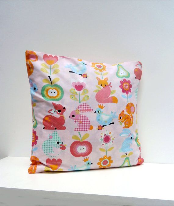 Items similar to Kawaii Fox n Squirrel n Deer Pillow cover Cushion cover on Etsy