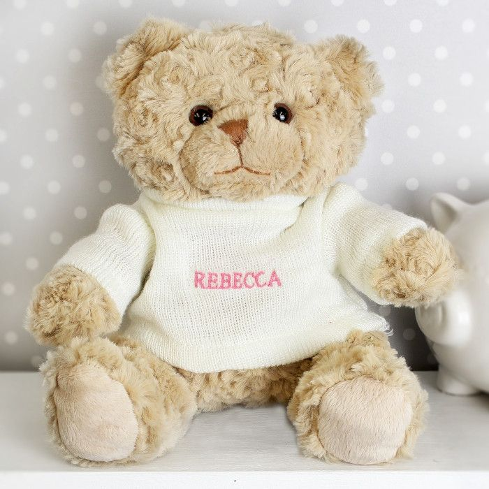 Shop Now!  http://www.blueponystyle.com/products/personalised-pink-name-only-teddy-bear?utm_campaign=social_autopilot&utm_source=pin&utm_medium=pin   #etsymntt #EtsySocial #ESLiving #ebay #toys #EpicOnEtsy #etsyretwt #gift #xmas