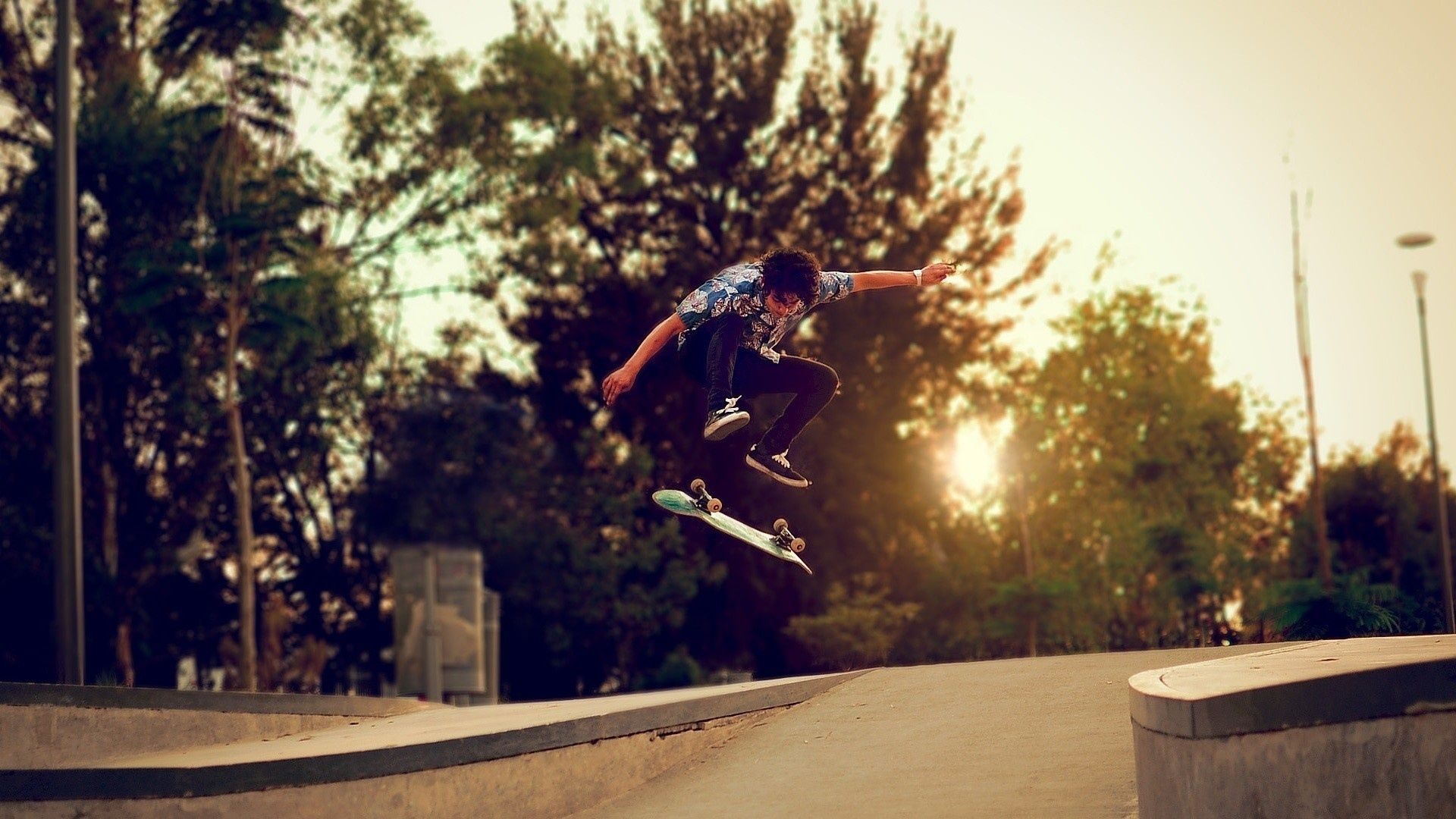 Download Wallpaper 1920x1080 Trees Skateboard Boy Skate Street Full Hd 1080p Hd Background Skateboard Cool Skateboards Skateboard Pictures